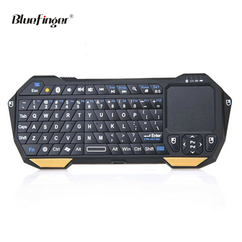 Mini wireless bluetooth keyboard with mouse touchpad for android