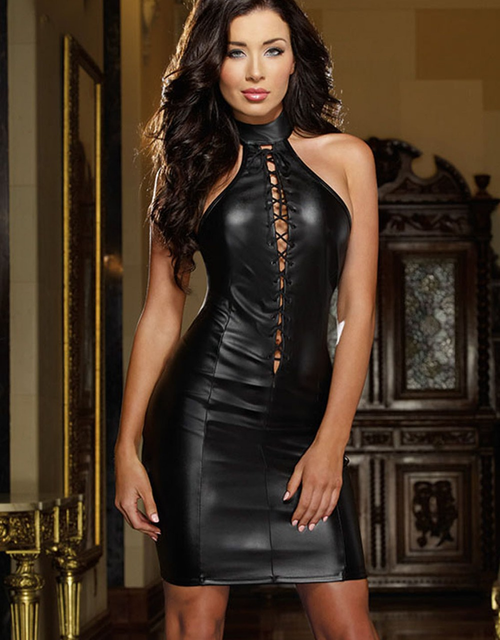 Clothes Erotic Hot Leather Sensual Sexy Tight Womens 50