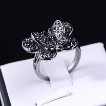 Vintage rings Gold Plated finger Bow ring wedding engagement Crystal Rings women jewelry wholesale