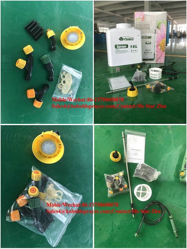 16L बैटरी पंप स्प्रेयर KOBOLD बस्ता बैग स्प्रेयर