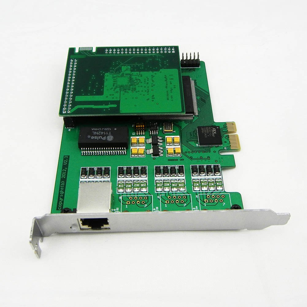 1 Span Selectable E1 or T1 Pcie Card with Octasic Hardware Echo Cancel Module Suitable for Asterisk Based Applications