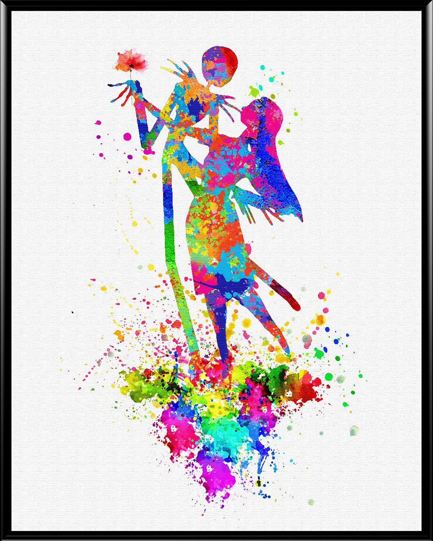 "Aprikskys Workshop 13X19"" Nightmare Before Christmas Dance Jack Skellington and Sally Canvas Art Print Boys Room Girls Room Kids Décor Nursery Decor Art Print Wall Decor Home Décor Office Décor Room Deco Inspirational Wall Art Gift A1019"