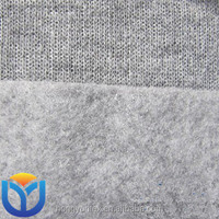 100% polyester knitted melange single fleece garments fabric