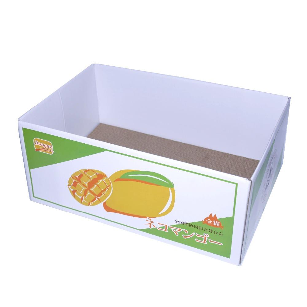Griffoir Chat Carton Design nouveau design vente chaude rayures n-tv scratcher cachette chat ondulé  scratcher de carton maison À la mangue - buy boîte de carton ondulé de