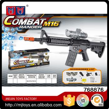 Meijin Electric Water Bullet Kids Gun Toys Eva Gun With Glass M16