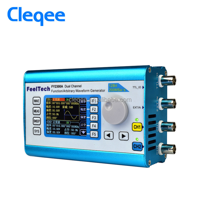 Cleqee FY2300-2MHz Arbitrary Waveform Dual Channel High Frequency Meter DDS 200MSa/s 100MHz Signal Generator Frequency