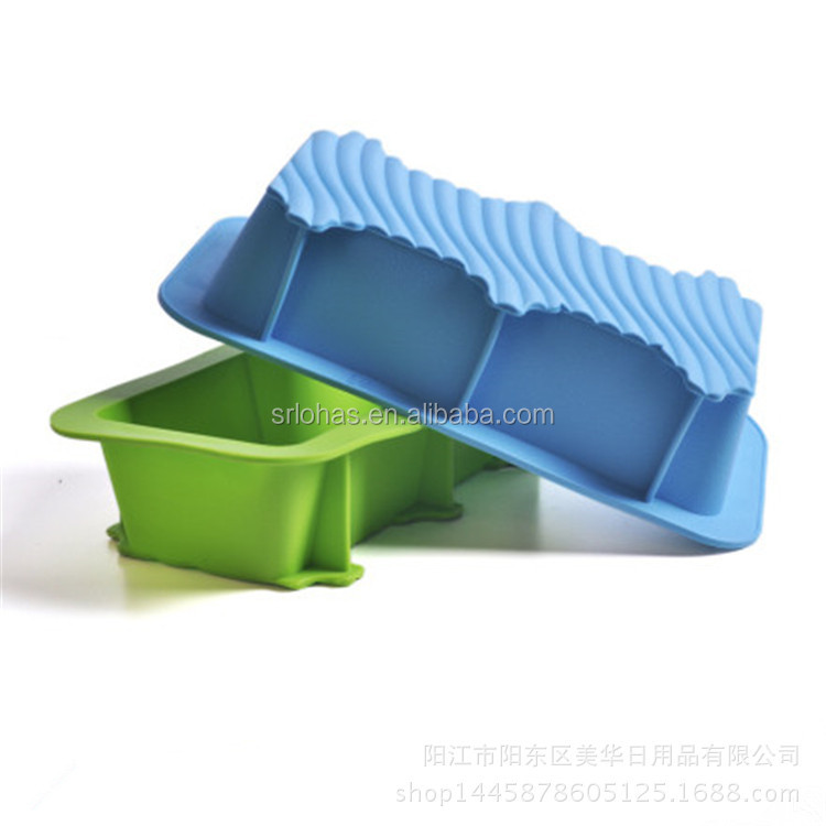 Kitchenware 9-inch Silicone Mold/Loaf Pan for Soap and Bread