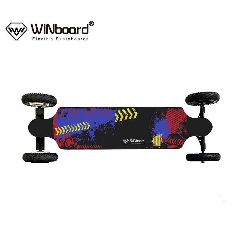 WINboard GTM CROSS 10S4P 14AH battery 8 inch 1000w hub motorized big torque all terrain off road electric skateboard