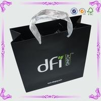 High Quality Handling Decorative Small Black Gift Bag