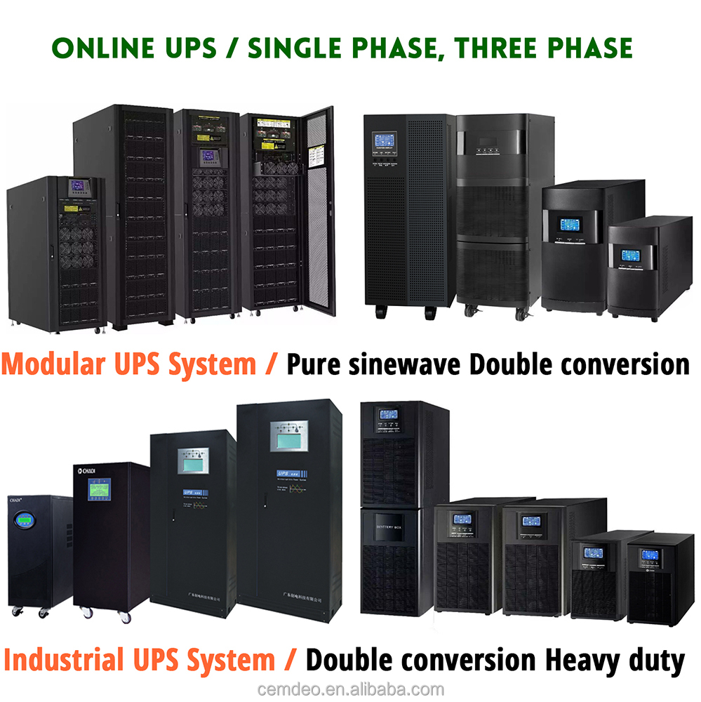 UPS Uninterruptible Power Supply System single phase three phases ups for hospital equipment use