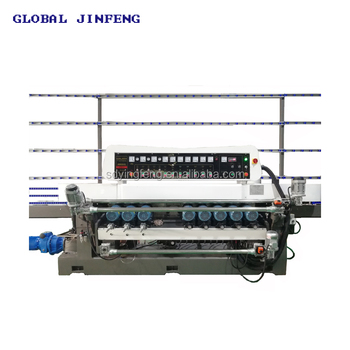 JFB-361SJ 10 Engines Vertical glass straight line beveling edging and grinding machine with CE