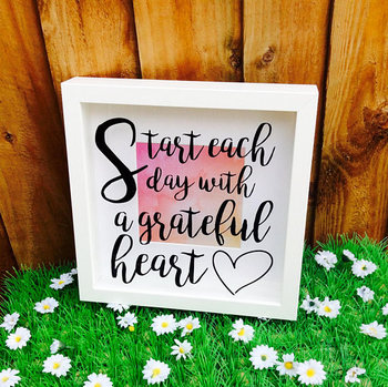 Motivational Quote Shadow Box Frame