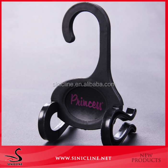 Custom logo printed plastic slipper hanger, shoes clip hanger
