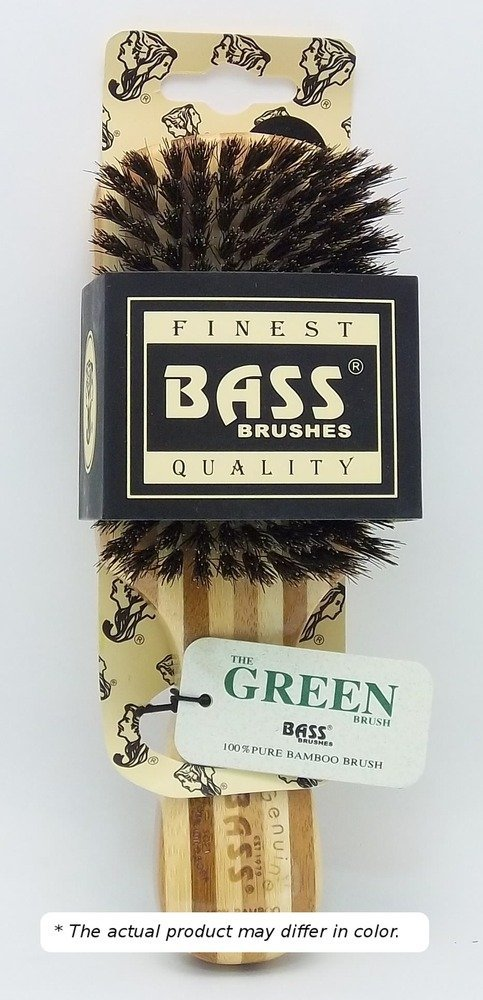 Brush - Classic Men's Club (Soft) 100% Soft Wild Boar Bristles Light Wood Handle Gentle Bass Brushes 1 Brush