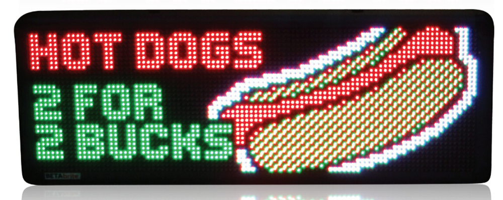 Scrolling Led Message Display Sign Programmable Led Display Board For  Increasing Your Business Scrolling Rainbow Message - Buy Scrolling Led