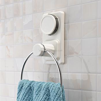 1036 SQ Bathroom Towel Rack Bath Suction Cup Towel Ring