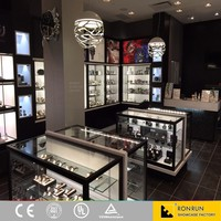 Modern jewelry and watch wooden display cabinet and showcase for store design