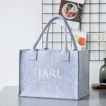 c99ca6760ca Excellent performance woven felt shopping baskets rucksack shoulder bag big  gray felt tote bag