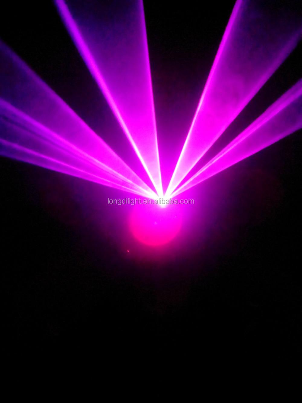Pink Uv Rose Color Dmx Animation Laser Lighting Rose Dj