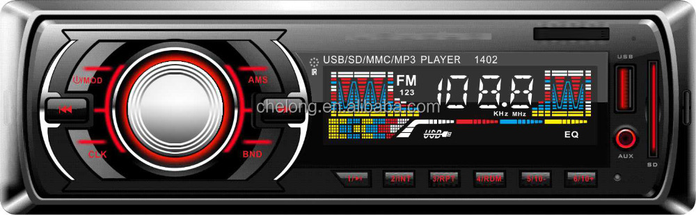 Car Stereo In-Dash Single Din Car Radio, Car MP3 Player USB SD AUX Wireless Remote Control Included 1402 MP3