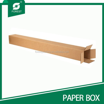 Long kraft corrugated modulator tube shipping box for Kraft paper craft tubes
