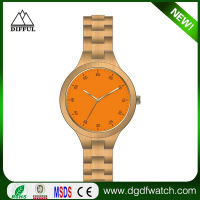 New arrival original design natural color pure time wholesale wood custom OEM brand watch