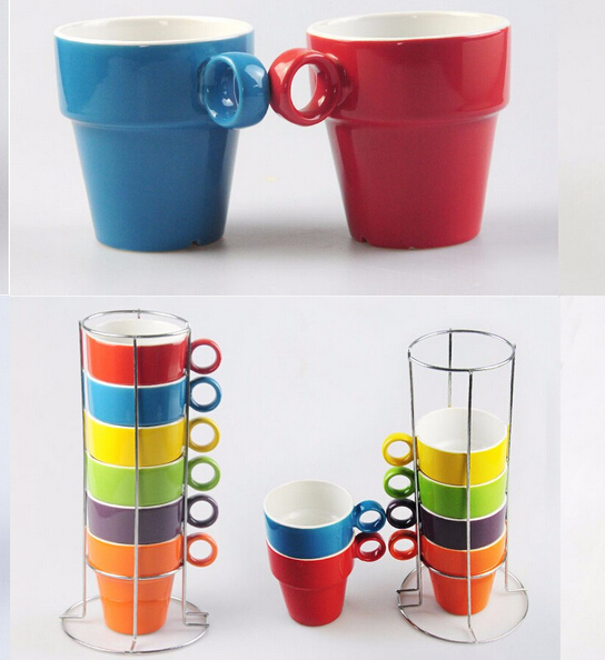Stackable Coffee Mugs With Rack Supplieranufacturers At Alibaba