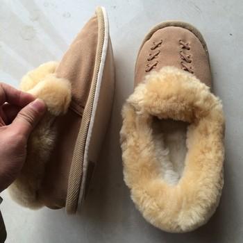 604cd8ab70d26f Unisex Genuine Australian Mens/Womens/Ladies Sheepskin Scuff Slippers Warm  Shoes