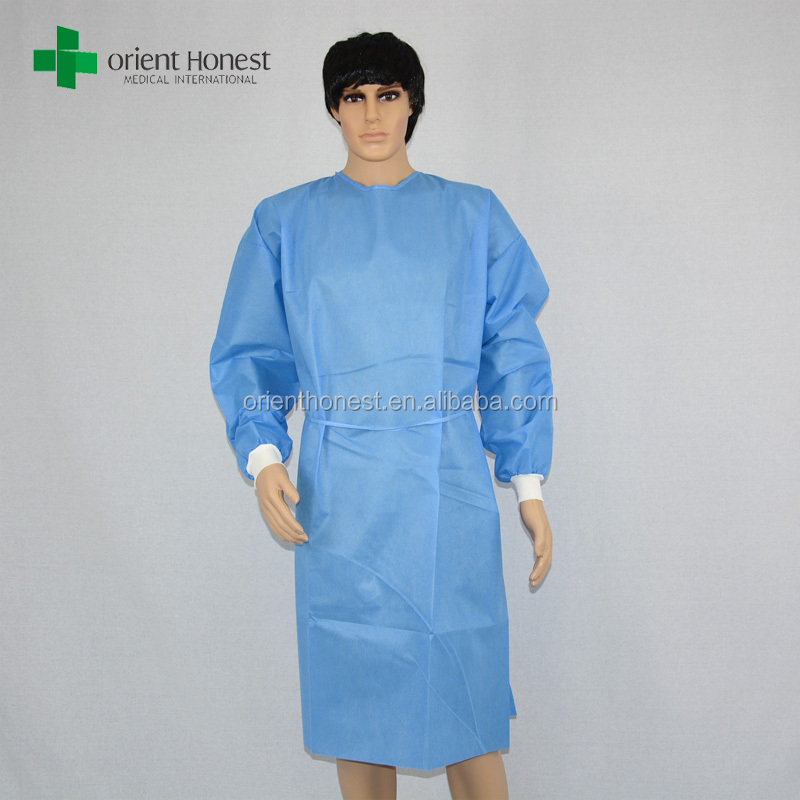 wholesale sterile sms disposable hospital gowns /waterproof disposable surgical gown