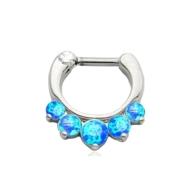 Blue Titanium Press Fit Tongue Ring Body Jewellery
