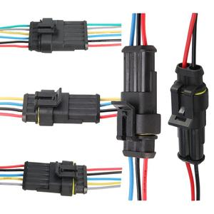 Auto wire connector 1 2 3 4 5 6 Way 1P 2P 3P 4P 5P car connector Male Female Waterproof Electrical Connector Plug with cable