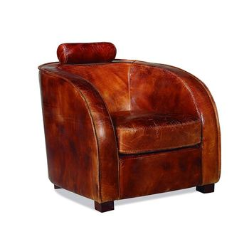Lounge Wood Leg Club Vintage Brown Distressed Antique Genuine Tan Leather  Hotel Armchair With Headrest - Buy Tan Leather Hotel Armchair,Tan Leather  ...