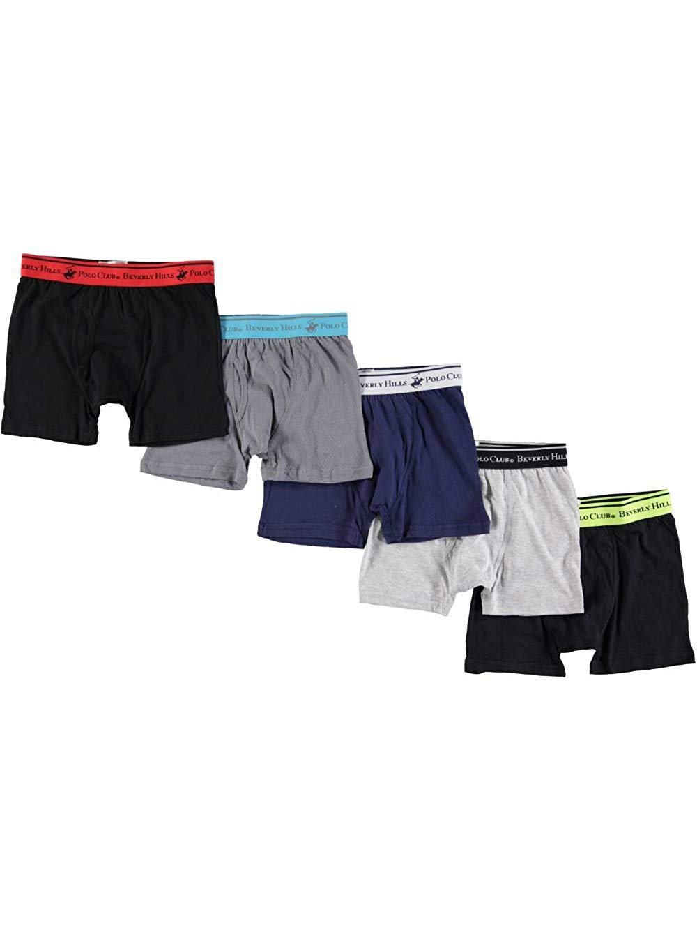 f841a9e350 Get Quotations · Beverly Hills Polo Club Big Boys' 5-Pack Boxer Briefs