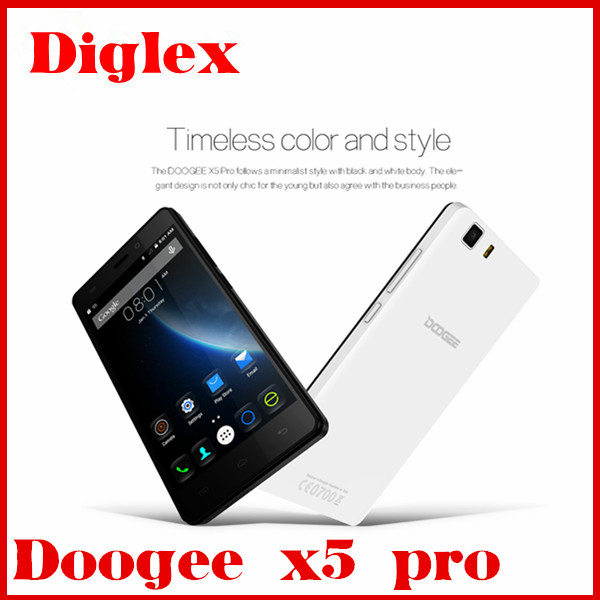 5.0 inch Original Doogee X5 Pro Android 5.1 Dual Sim Phone 5.0MP Cameras MTK6735 Quad Core 2GB/16GB Play Store Cell Phone