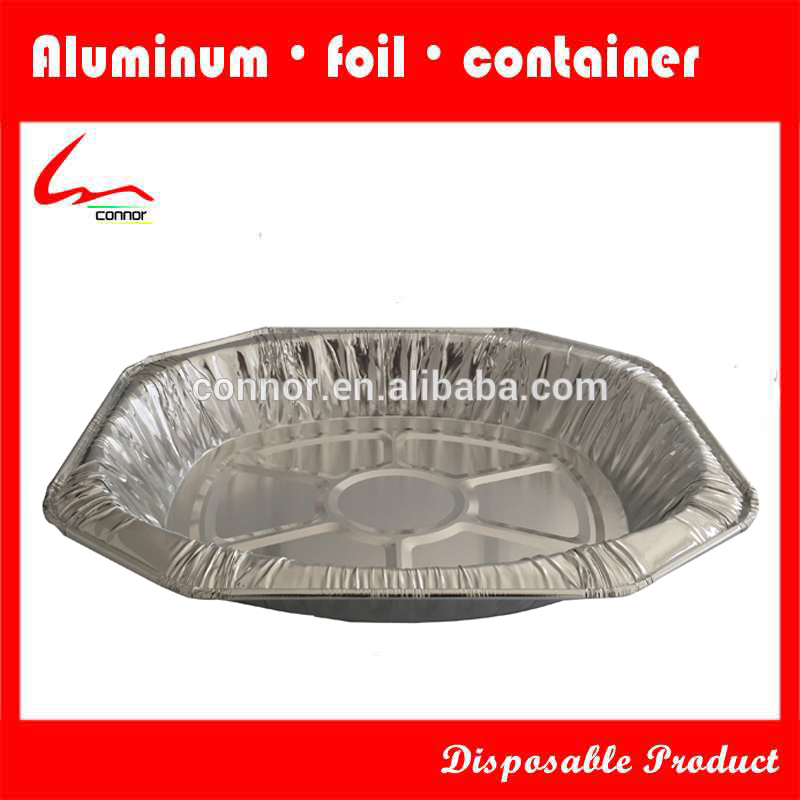 Feuille d 39 aluminium jetables ovale plat r tir feuille d - Plat aluminium jetable ...