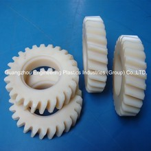 High heat deflection temperature customized plastic tooth Nylon66 pinion helical gear