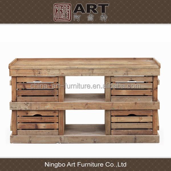 Telefone Loja Artesanato Barros ~ Muebles de comedor de diseño europeo antiguo aparador reciclado de madera de abeto Armarios de