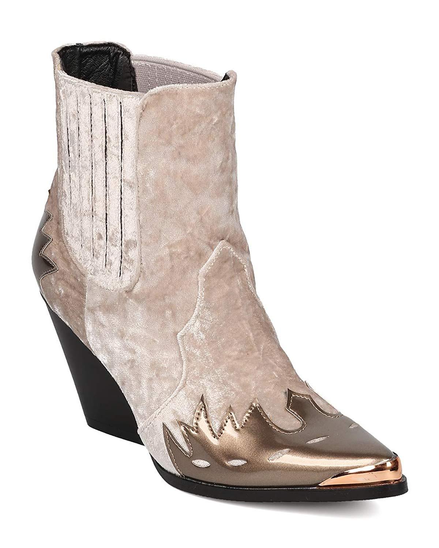 730595b99ee Get Quotations · CAPE ROBBIN Women Flame Pattern Cowboy Boot - Block Heel  Western Boot - Chunky Heel Ankle