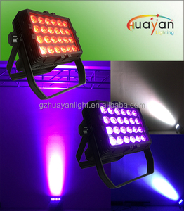 Outdoor Building LED Decoration Wash Light 24pcs 10W RGBW DMX Led Wall Washer Light For Wedding Stage Show