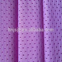 warp knit polyester mesh fabric for basketball&football sportswear