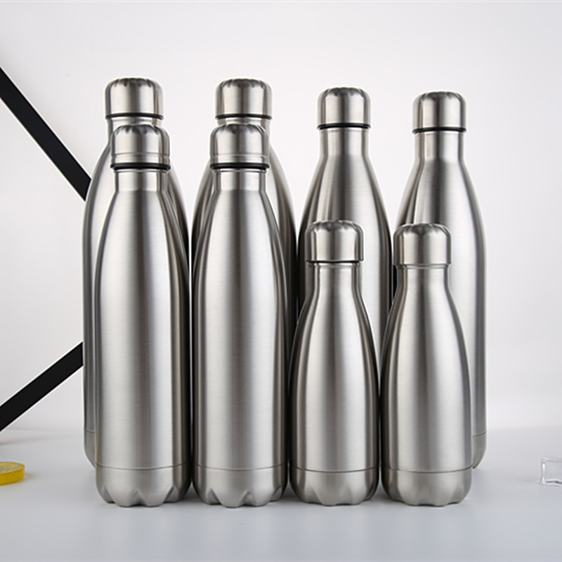 500ml 750ml Colorful Stainless Steel Cola Shaped Vacuum Insulated Travel Cola Bottle