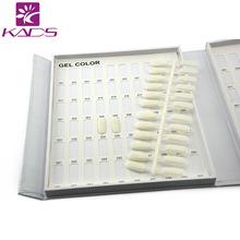 2015 hotsales 5pcs lot 24color tips Removable Nail Art Flat Display Clear Chart for Polish Gel