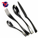 Hot Sale Factory Direct FDA certificated food grade matte black cutlery for Restaurants
