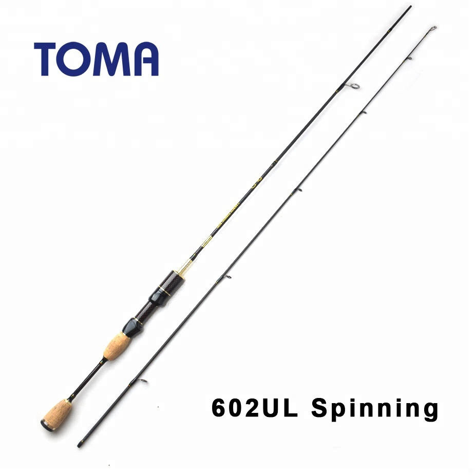 Nouveau 1.8 m Ultra Light Spinning Fishing Rod Lure Pole Carbon Ul Power Bait Casting