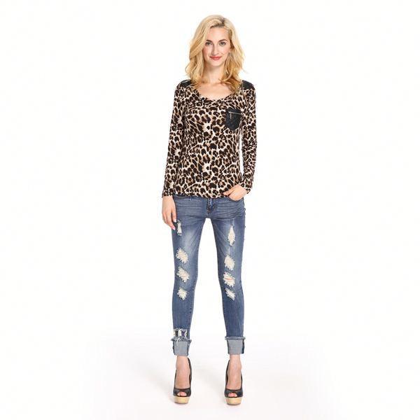 Good Prices Professional Ladies Animal Print Tops - Buy Ladies ... 0c4e1600c474