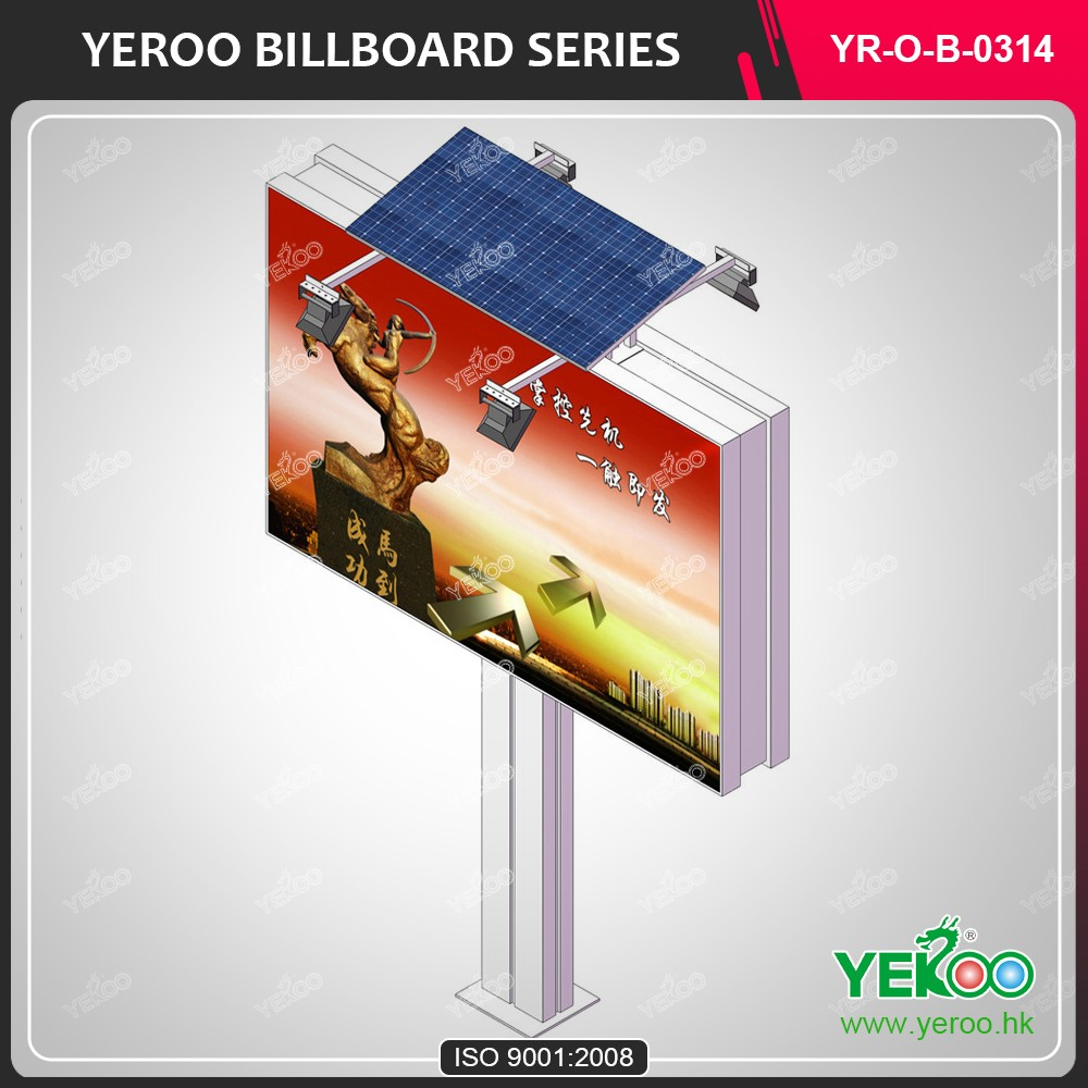 High-quality double side stainless steel display outdoor advertising billboard stand