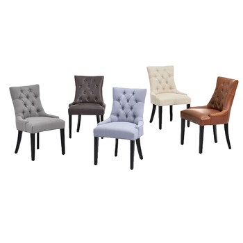 New Style French Luxury Dining Room Chair Tufted