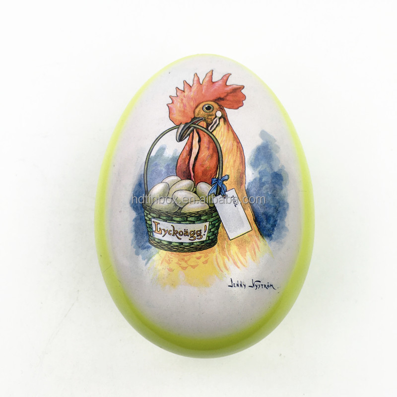 Factory directly sale Low price High quality Lovely gift egg shape tin box