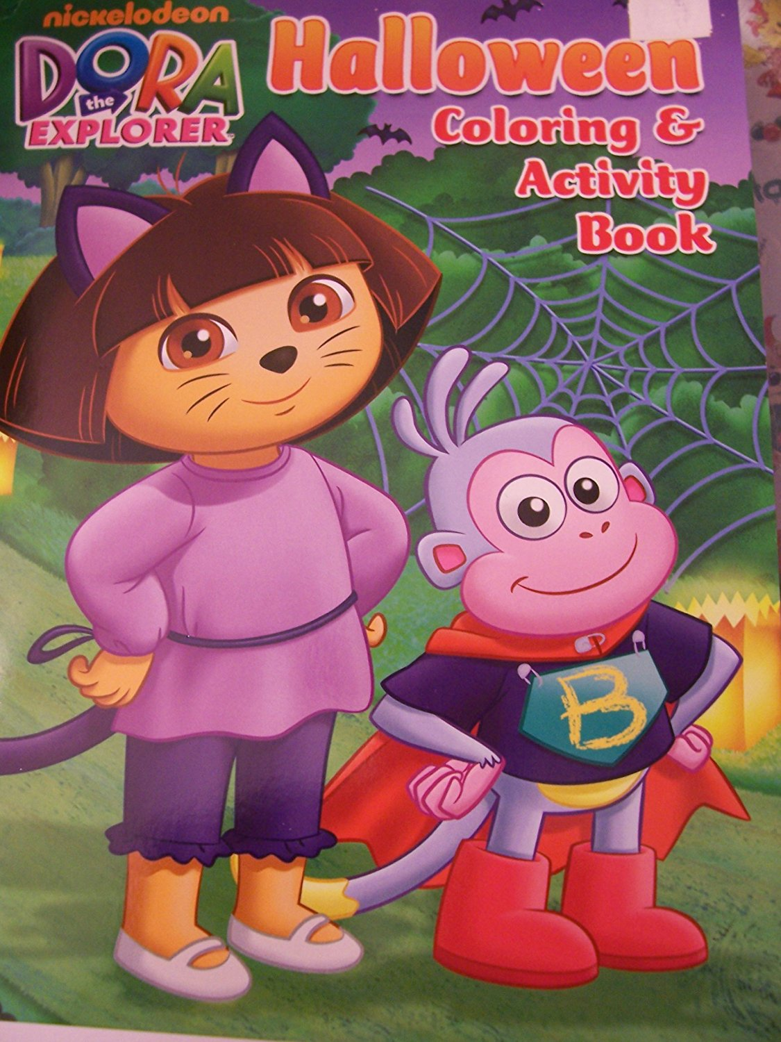 Dora The Explorer Holiday Coloring Activity Book Halloween Catwoman Boots Batman