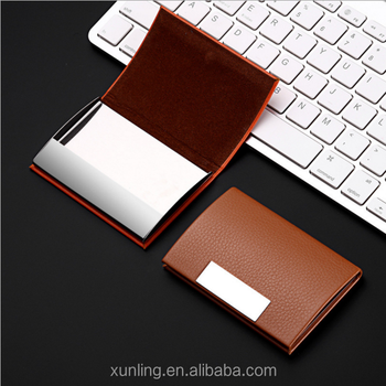Stainless steel business card metal card holder litchi grain card stainless steel business card metal card holder litchi grain card case reheart Images